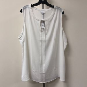NWT Avenue White Blouse